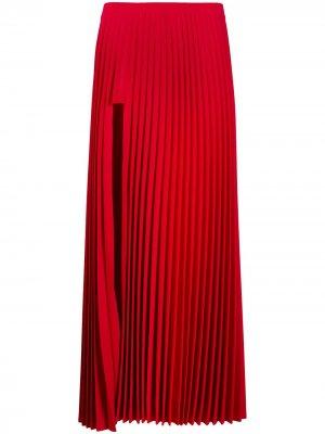 Плиссированная юбка макси Vetements. Цвет: красный