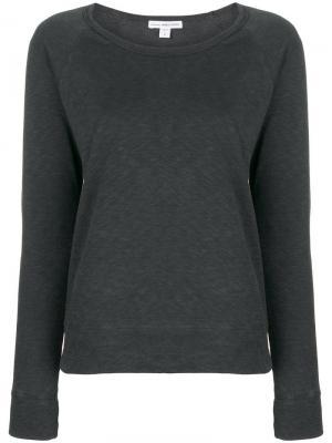 Longsleeved sweatshirt James Perse. Цвет: серый