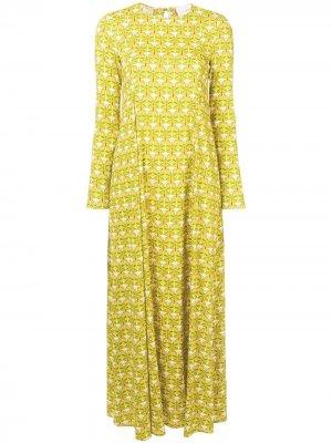 Geometric print dress La Doublej. Цвет: желтый