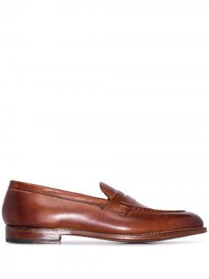 Лоферы Lloyd с миндалевидным носком Grenson. Цвет: коричневый