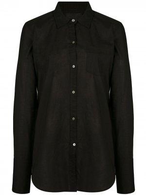 Рубашка с нагрудным карманом Nili Lotan. Цвет: черный