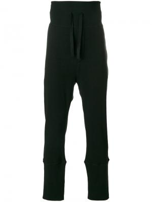 Спортивные брюки с эластичным поясом Ann Demeulemeester. Цвет: черный