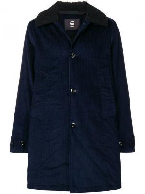 Пальто с воротником G-Star Raw Research. Цвет: синий