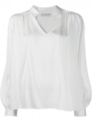 Блузка Armel By Malene Birger. Цвет: белый