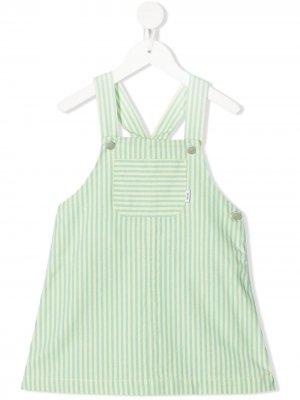 Платье-сарафан Megan в полоску Knot. Цвет: зеленый