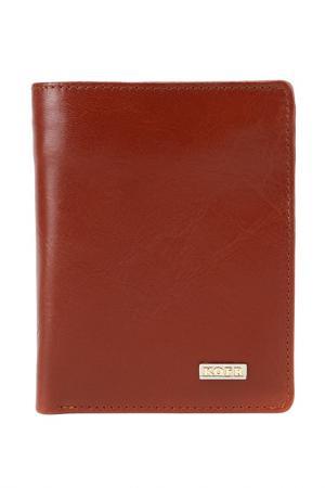 Бумажник KOFR. Цвет: светло-коричневый