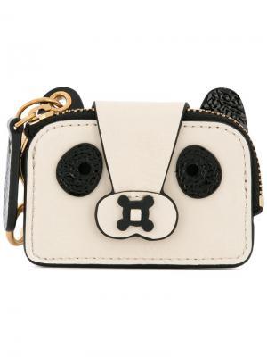 Клатч Panda Anya Hindmarch. Цвет: белый