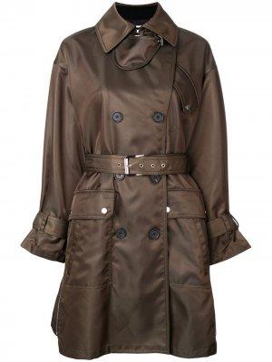 Double breasted belted coat Barbara Bui. Цвет: зеленый