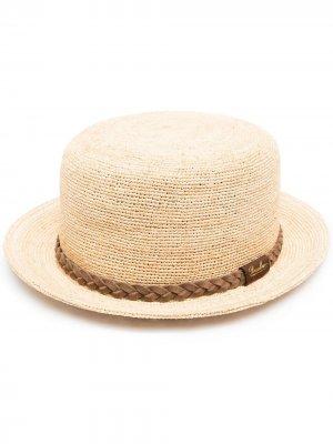 Шляпа с плетеной лентой Borsalino. Цвет: нейтральные цвета