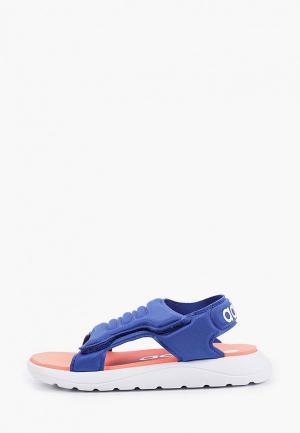 Сандалии adidas. Цвет: синий
