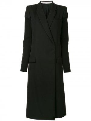 Пальто миди прямого кроя Haider Ackermann. Цвет: черный