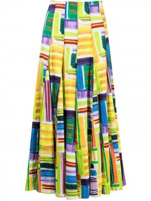 Юбка Valleta с абстрактным принтом Alexis. Цвет: разноцветный