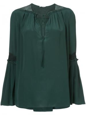 Блузка с рукавами-колокол Vionnet. Цвет: зелёный