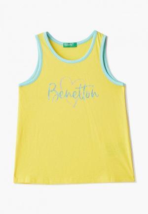 Майка United Colors of Benetton. Цвет: желтый