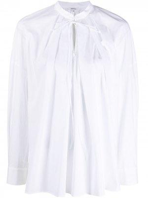 Блузка со складками спереди Enföld. Цвет: белый