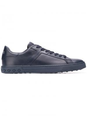 Кроссовки на шнуровке Tod's. Цвет: синий