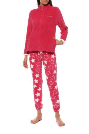 Пижама Buccia di Mela. Цвет: бордовый