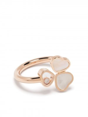 Кольцо Happy Hearts Wings из розового золота с бриллиантами и перламутром Chopard. Цвет: розовый