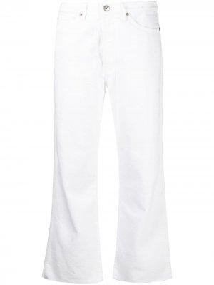Расклешенные джинсы средней посадки 3x1. Цвет: белый