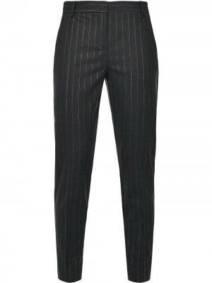 Прямые брюки в тонкую полоску Pinko. Цвет: черный