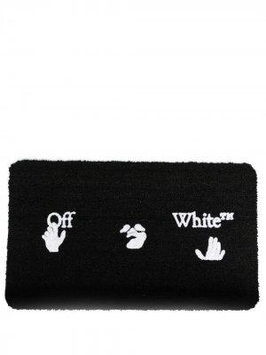 Придверный коврик с логотипом Swimming Man Off-White. Цвет: черный