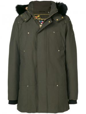 Hooded padded coat Moose Knuckles. Цвет: зеленый