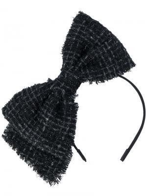 Ободок для волос с бантом Eugenia Kim. Цвет: чёрный