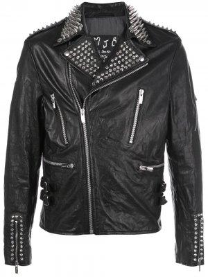 Байкерская куртка CORST MJB Marc Jacques Burton. Цвет: черный