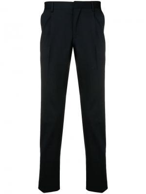 Классические брюки кроя слим Entre Amis. Цвет: черный