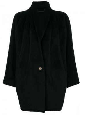Пальто с воротником-шалькой Versace Vintage. Цвет: черный