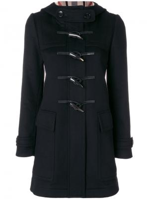 Пальто-дафлкот Burberry. Цвет: чёрный