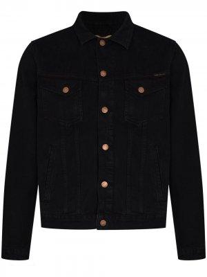 Джинсовая куртка Bobby Black Nudie Jeans. Цвет: черный