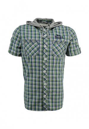 Рубашка Lonsdale. Цвет: зеленый