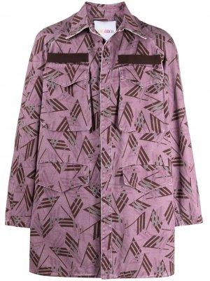 Куртка оверсайз с логотипом The Attico. Цвет: розовый