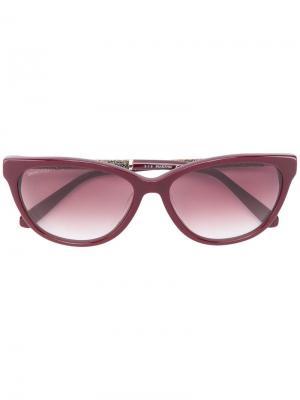 Солнцезащитные очки в оправе кошачий глаз Swarovski Eyewear. Цвет: красный