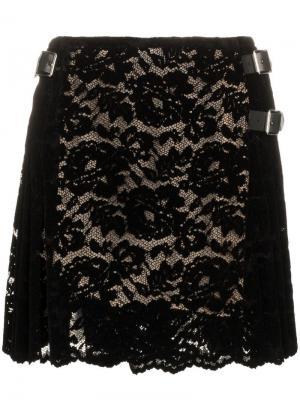 Мини-юбка с кружевной отделкой Christopher Kane. Цвет: черный