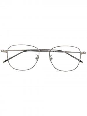 Очки в металлической оправе Montblanc. Цвет: золотистый