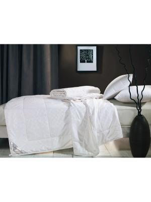 Одеяло натур. шёлк в сатин. чехле, 1,5-спальное 145х205, всесезонное, вес 1645 гр. Asabella. Цвет: белый