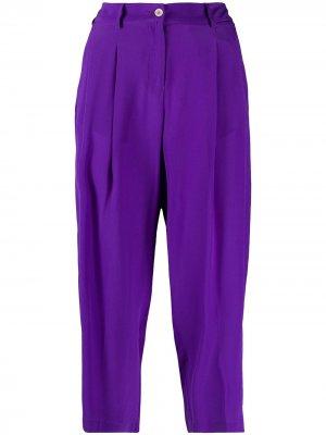Укороченные брюки со складками Jejia. Цвет: фиолетовый
