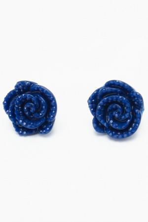 Серьги DIVA. Цвет: синий