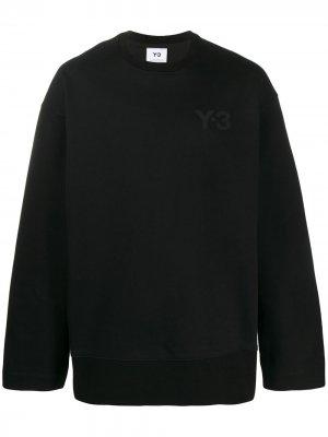 Толстовка с логотипом Y-3. Цвет: черный