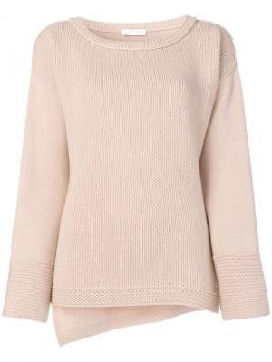 Трикотажный свитер с вырезом-лодочкой Cruciani. Цвет: нейтральные цвета