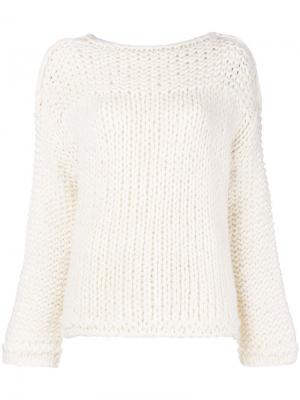 Knitted jumper Iris Von Arnim. Цвет: белый