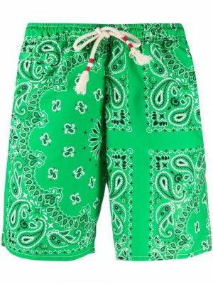 Плавки-шорты с принтом пейсли Mc2 Saint Barth. Цвет: зеленый