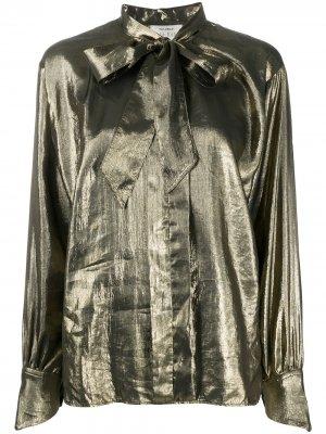 Блузка с эффектом металлик Forte. Цвет: золотистый