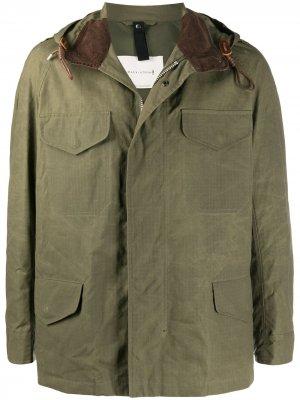 Легкая куртка с капюшоном Mackintosh. Цвет: зеленый