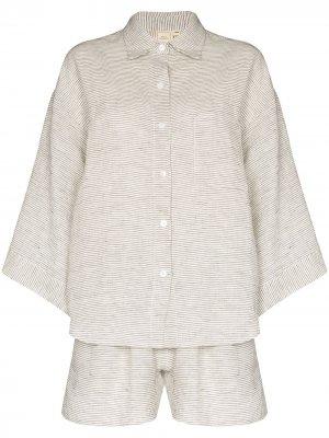 Пижама в тонкую полоску Deiji Studios. Цвет: серый