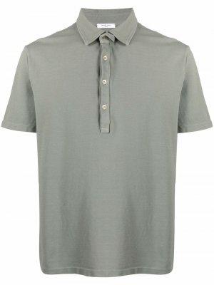 Рубашка поло из джерси с короткими рукавами Boglioli. Цвет: зеленый