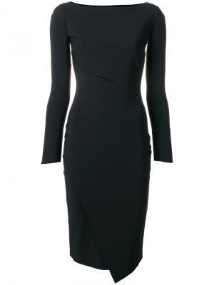 Платье-футляр с запахом Le Petite Robe Di Chiara Boni. Цвет: черный