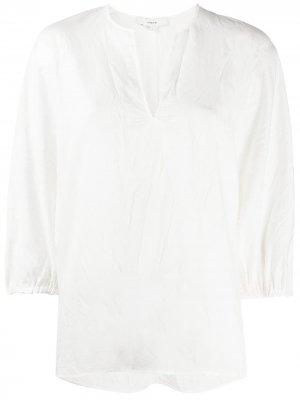 Блузка с разрезом Vince. Цвет: белый